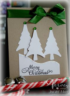 Trees from the Verve Winter Fun die set and the beautiful font from Bright Spirits set.