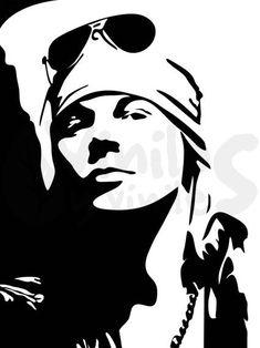 black and white vector Stencil Rosa, Rose Stencil, Stencil Art, Tatuagem Guns N Roses, Arte Do Hip Hop, White Art, Black And White, Gravure Laser, Deco Studio