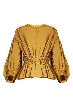 Puff-sleeved cropped cotton-poplin blouse | Sonia Rykiel | MATCHESFASHION.COM UK