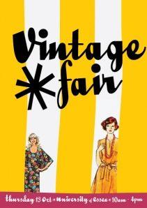 Flyer for essex vintage fair