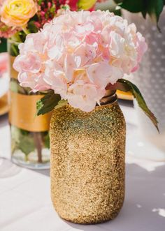 Gold and blush wedding