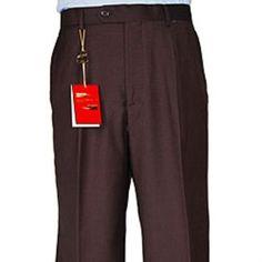 f4ad3c693bd7 Men's Rust With Gold Windowpane Wide Leg Single Pleated Pants | Mens  designer dress pants in 2019 | Mens pleated trousers, Mens slacks, Pleated  pants