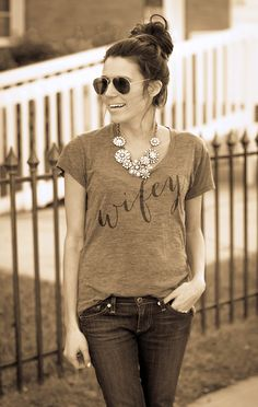 Hello Fashion in our Wifey and Crystal Botanica Necklace! Stunning!