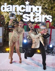 The champ: Laurie Hernandez was crowned as the season 23 champion of Dancing With The Stars on Tuesday along with pro partner Valentin Chmerkovskiy