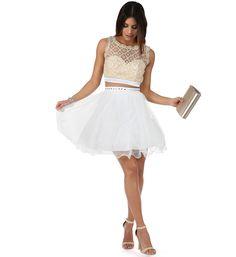 Bri Ivory Two Piece Prom Dress
