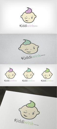 Logo Design   Branding   KiddiWink   Kids and Babies   Heart and Ram Design Co.