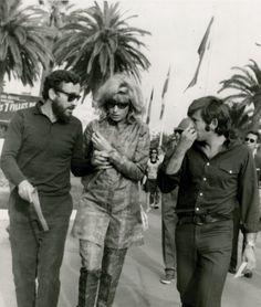 Louis Malle, Monica Vitti and Roman Polanski at The Cannes Film Festival 1968. Photo by Paul-Louis.