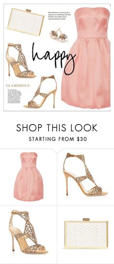 """Summer Cocktail"" by ms-mandarinka ❤ liked on Polyvore featuring Oscar de la Renta, Sergio Rossi, Inge Christopher and Ippolita"