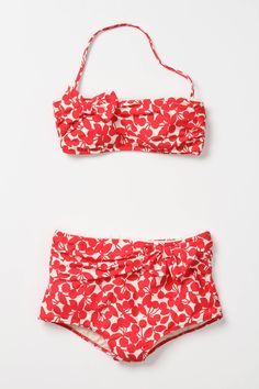 cherry print retro bikini by Nannette Lepore #vintage #swimsuit #twopiece