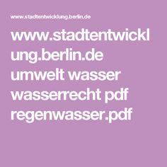 www.stadtentwicklung.berlin.de umwelt wasser wasserrecht pdf regenwasser.pdf