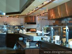 Walt Disney World's Wolfgang Puck Express Restaurant Designed by Architect Anthony Eckelberry Restaurant Kitchen, Restaurant Design, Restaurants In Orlando, Commercial Kitchen Design, Dream Kitchens, Places To Eat, Walt Disney, Luxury, House