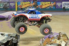 Captain America in flight