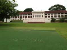 A huge patch of carpet grass is used in front of the Fort Canning Centre to host activities. In order to prevent the turf grass from traffic stress caused by the human activities.