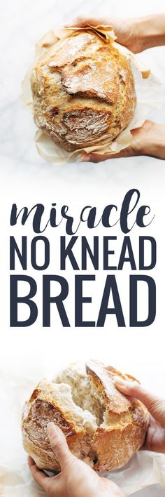 Miracle No Knead Bread! this is SO UNBELIEVABLY GOOD and ridiculously easy to make. crusty outside, soft and chewy inside - perfect for dunking in soups! | http://pinchofyum.com (Baking Bread Appetizer)