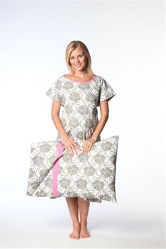 Clara Gownie & Matching Pillowcase for mom & baby arrival in hospital