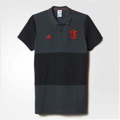 7c17400064 Camisa Polo Flamengo 3S Cinza Adidas 2016 - EspacoRubroNegro Cinza