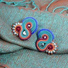 Soutache Earrings, Folklore, Cuff Bracelets, Amazing, Diy, Jewellery, Embroidery, Do It Yourself, Jewels