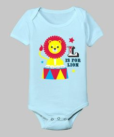 This Light Blue 'L Is for Lion' Bodysuit - Infant is perfect! #zulilyfinds