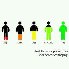 Recharge your Iman with salah and dhikr.