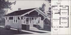 Craftsman Cottage Interiors | From 101 Modern Homes by Standard Homes Company, 1923