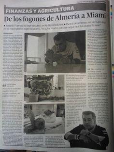 Artículo en la prensa de mi tierra #almeria gracias al diaria de almeria @elalmeria