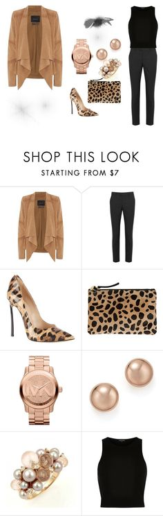 """""""Tiger Style"""" by lightcoti ❤ liked on Polyvore featuring Oui, RED Valentino, Casadei, Clare V., Michael Kors, Bloomingdale's, Mimí, River Island, modern and happy"""