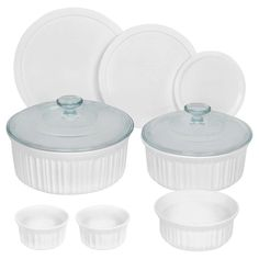 CorningWare 10 Piece Round Bakeware Set, White *** Details can be found by clicking on the image.