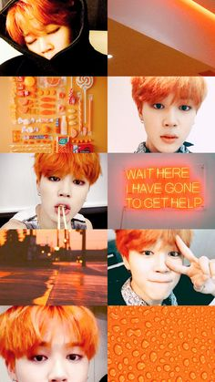jimin's orange hair |                        @p a r k j i m i n i e