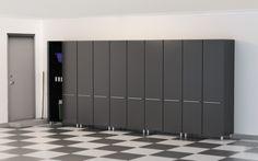 Garage 7' H x 15' W x 2' D 5-Piece Tall Cabinet Set