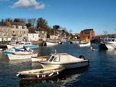 Padstow harbour on a sunny but cold Sunday in January Lovely caravan close to harlyn bay cornwall Trevose Head, Caravans, Cornwall, January, Sunday, Cold, Spaces, Spring