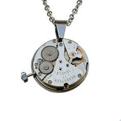 Steampunk anheng Washer Necklace, Steampunk, Jewelry, Design, Creative, Jewlery, Bijoux, Jewerly, Steam Punk