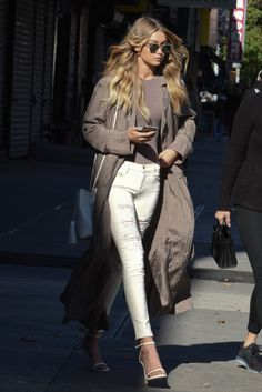 celebritiesofcolor: Gigi Hadid out and about in NYC.