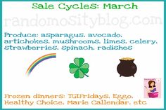 Cycles to find things on sale in March