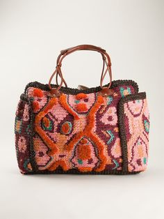 Jamin Puech Frayed Trim Tote