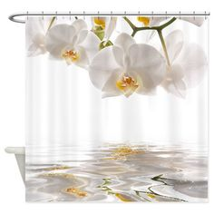 White Orchids Shower Curtain on CafePress.com