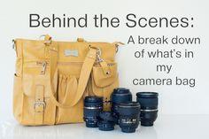 Peek inside my camera bag. By Courtney Slazinik. http://clickitupanotch.com/2014/05/peek-inside-a-photographers-camera-bag/
