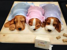 Edible Art, 3 Little Puppies Cake.