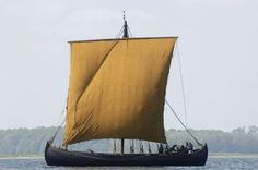 During the Viking Age, people started to categorise ships according to their functions. There were two types. One was primarily suitable for transporting armed men. The other was suitable for transporting cargo. Pictured here is the Viking Ship Museum's freighter Ottar, which is of the type that was used for navigating the North Atlantic islands. (Photo: the Viking Ship Museum in Roskilde).