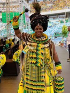Dazzling South African Traditional Dresses For Women 2019 ShweShwe 1 South African Dresses, African Dresses For Women, African Wear, African Attire, African Women, African Outfits, African Clothes, African Beauty, Zulu Traditional Attire