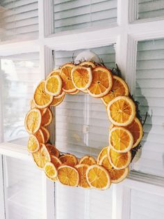 Dried citrus wreath – twineandtable
