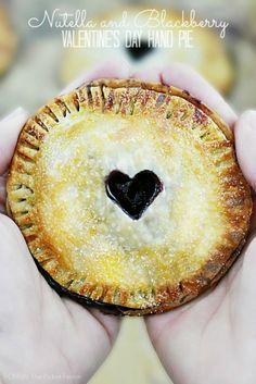 Nutella and Blackberry Valentine's Day Hand Pie
