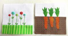 My Garden - June.  Bitty block by Mamacjt.