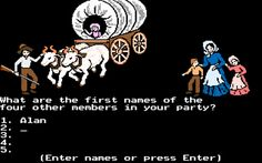 Oregon Trail was. the. best.