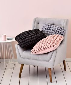 We don't usually play favourites but the Chunky Knit cushions are particularly special. Available in 3 fantastic colours – Coal, Silver & Pearl Pink. #cushions #chunkyknit #livingroom #homefurnishings #homestyling #homedecor #homeinterior #adairs #homerepublic