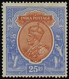 India Collections, SG 151-246. The Ric Otton Collection of British Commonwealth. India. 1911-35 complete mint collection with some additional 1911-22 shades, mostly fine. S.G. 151-246, £2200. Photo for 25r. Estimate 600£-800£