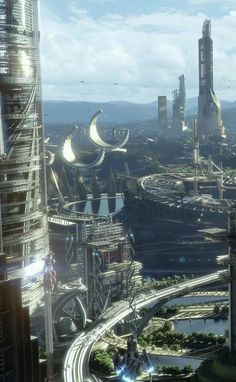 70 New Ideas For Movie Concept Art Science Fiction Fantasy City, 3d Fantasy, Fantasy Places, Fantasy Kunst, Fantasy World, Futuristic City, Futuristic Architecture, Futuristic Technology, Technology Gadgets
