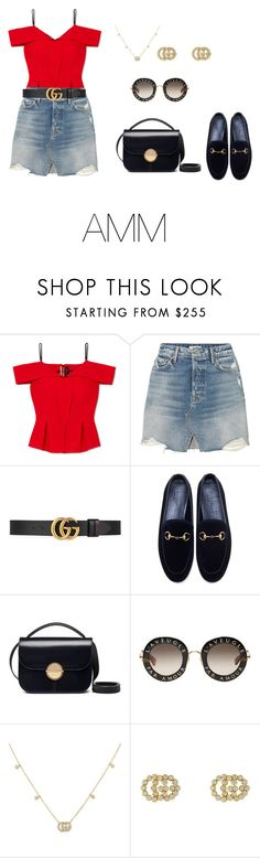 """SS'18"" by antoo-xoxo on Polyvore featuring Roland Mouret, GRLFRND, Gucci and Marni"