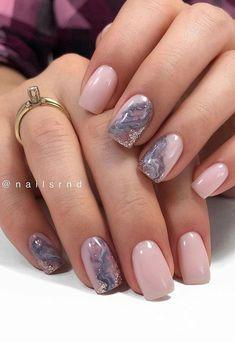 Chic Nails, Stylish Nails, Trendy Nails, Elegant Nail Art, Pretty Nail Art, Blush Pink Nails, Milky Nails, Subtle Nails, Short Nail Designs