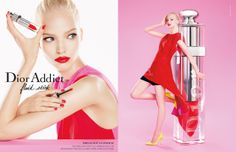 Dior Addict Fluid Stick Summer 2014 Makeup Collection - Dior combines the characteristics of lipstick, lip gloss and a lip lacquer, in its new Dior Addict Fluid Stick range scheduled to hit the counters soon. Dior Beauty, Beauty Skin, Beauty Makeup, Fashion Beauty, Dior Makeup, Pink Fashion, Beauty Book, Beauty News, Beauty Trends