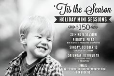 Holiday Mini Session Flyer | sweetlouisephotography.com | mintpacific.com